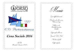 Cena Sociale Club Vela Portocivitanova 7 dicembre 2016