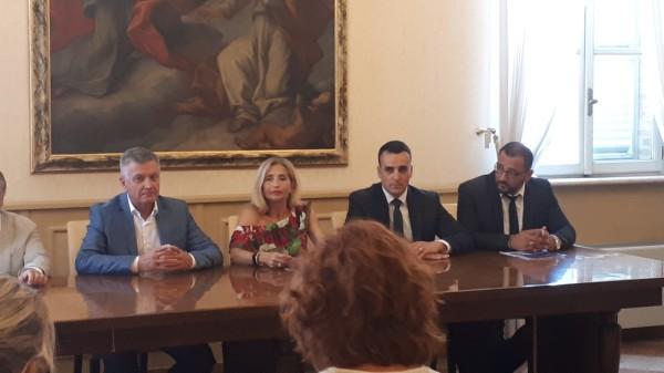 Cristiana Mazzaferro presindete CVP (al centro) con la delegazione croata a Civitanova Marche